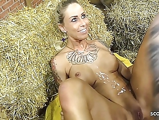 Extrem Massive Cumshot after Fuck for German Teen Anni Angel blonde blowjob cumshot