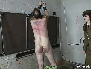 Hard Military Whipping - Strict Officer Vivienne hardcore bdsm femdom
