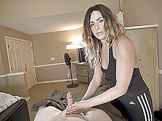 Laser Hair Removal From My Friends Hot Mom Part 2 handjob milf old & young