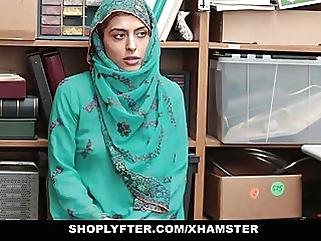 Shoplyfter- Hot Muslim Teen Caught & Harassed brunette cumshot hardcore