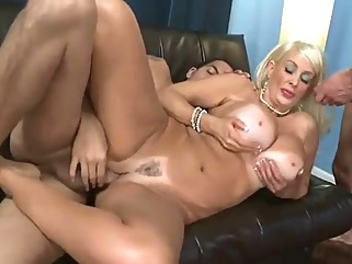 Old Slut With Huge Tits Gets Doubleteamed big tits mature straight