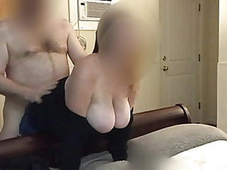 Husband films wife getting fucked from behind by friend cumshot milf cuckold