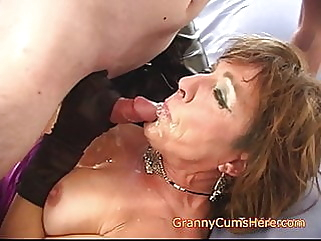 Ever FUCKED your GRANNY anal blowjob mature