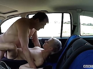 Older Hooker fucked in a car without rubber amateur public nudity hidden camera