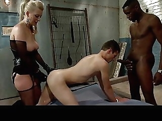 Another BBC loving bitch and her male bitch loves it anal bisexual femdom