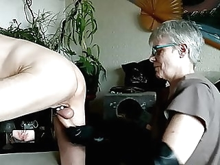 Short fisting for hubbys ass amateur anal handjob