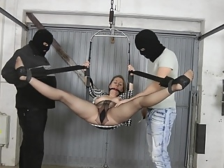 Pregnant bondage sex bdsm big tits blonde